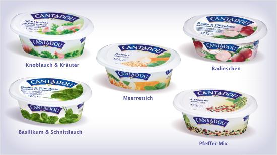… bietet eine breite Palette an Geschmacksrichtungen an: Cantadou ist als streichfähiger Frischkäse in sechs verschiedenen Sorten erhältlich. Ganz neu ist die Sorte …