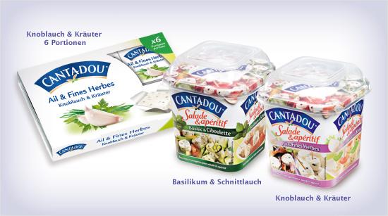 … Cantadou auch in sechs kleinen Portionen erhältlich und als Cantadou Salade & Apéritif im Becher. Mit den Frischkäsehäppchen lässt sich in kürzester Zeit ein Salat verfeinern oder …