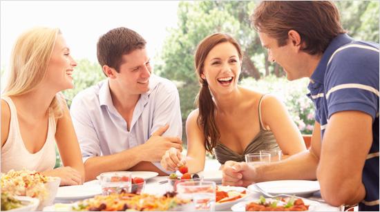 … gemeinsam mit Familie, Freunden und Kollegen verschiedene Sorten Cantadou zu geniessen.