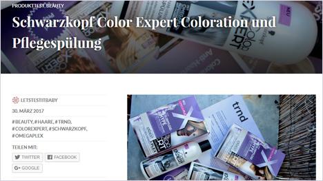 ... oder auf unserem eigenen Blog - wir teilen unsere Erfahrungen mit Color Expert online.