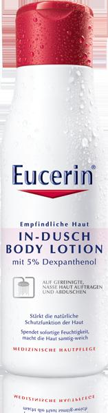 sind zufrieden mit der Eucerin In-Dusch Body Lotion.