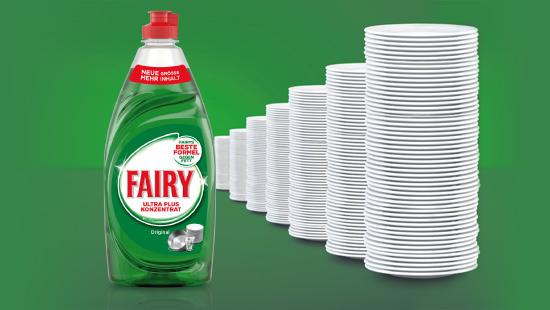 Seit August 2016 ist Fairy in der 500 ml Flasche erhältlich – neue Größe, mehr Inhalt!