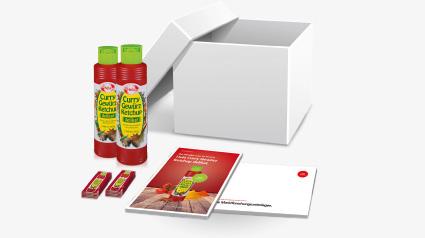 Startpaket Hela Curry Gewürz Ketchup delikat.