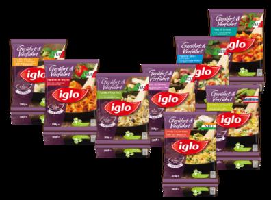 8 beliebte Gerichte von iglo Gerührt & Verführt.