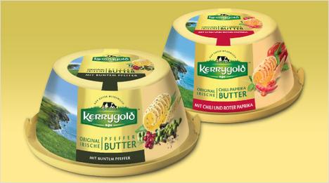 … Butter-Variante ist die Pfeffer-Butter, die ihren würzigen Geschmack durch bunten Pfeffer erhält. Pikanter Chili verleiht der Kerrygold Chili-Paprika-Butter ihre leicht scharfe Note. Alle …
