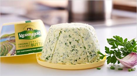 … Stülpbecher mit Frische-Verschluss macht die Verpackung zur Butterdose – damit lassen sich die Kerrygold Butter-Varianten nach Anbruch …