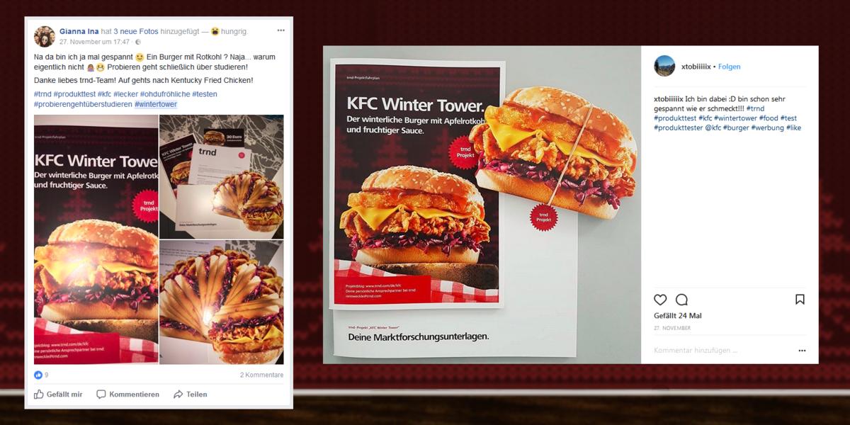 Wir machen den KFC Winter Tower auch online bekannt.