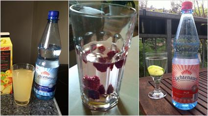 Mischgetränke mit Lichtenauer Mineralwasser.