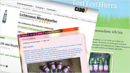 Bewertungen für Lichtenauer Mineralwasser.