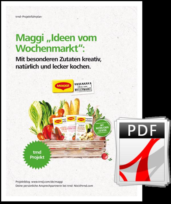 """Jetzt informieren: Der MAGGi """"Ideen vom Wochenmarkt"""" Projektfahrplan."""