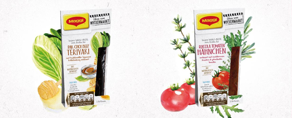 """Die """"Ideen vom Wochenmarkt"""" Würz-Pasten bieten die Basis für außergewöhnliche Gerichte, die sich schnell und einfach zubereiten lassen."""