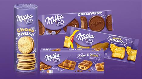 Neben den beliebten Schokotafeln gibt es von Milka auch zahlreiche knusprige Kekse sowie lockere Kuchen – verfeinert …