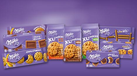 … süße Milka Vielfalt zu entdecken. Insgesamt bietet Milka 13 verschiedene Keks- und Kuchensorten an. Eine Auswahl von vier Sorten …