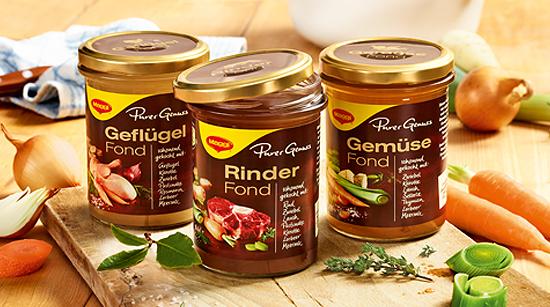 Für alle, die keine Zeit zum selbst Einkochen haben und trotzdem eine feine Basis für ihre Gerichte suchen, hat die Marke Maggi ihr neues Fond-Sortiment Purer Genuss entwickelt.