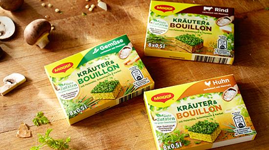 Den Geschmack ausgewählter Kräuter hat Maggi nun in einem neuen Bouillonwürfel festgehalten. Das Besondere und Einzigartige an Maggi Kräuter & Bouillon …