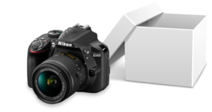 1x Nikon D3400 Kit inklusive 18-55 mm Objektiv
