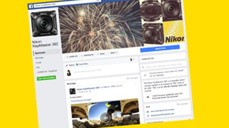 ... oder Facebook, in denen die Ergebnisse in der 360° Ansicht angeschaut werden können.