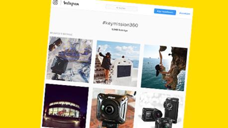 Durch die Hashtags #keymission360 und #nikondeutschland sind die Beiträge leichter auffindbar.