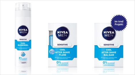 ... ist die Nivea Men Sensitive Cool Pflegeserie (bestehend aus Rasiergel, After Shave Fluid und After Shave Balsam) erhältlich. Im trnd-Projekt lernen wir den Balsam kennen und ...
