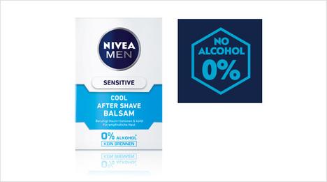 ... enthält 0% Alkohol* und ist damit sanft zur Haut. Im Vergleich zu Menthol oder Alkohol (die in herkömmlichen After Shave Produkten enthalten sind) pflegt Sensitive Cool mit ...