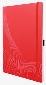 notizio Notizbuch, gebunden, Softcover, Rot