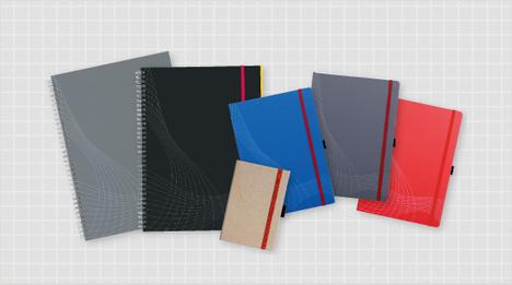 Die notizio Notizbücher von Avery Zweckform gibt es gebunden oder spiralgebunden sowie in vielen Größen und Farben.