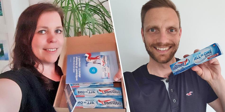 Gemeinsam haben wir die Odol-med3 All in One Schutz Zahnpasta ausprobiert ...
