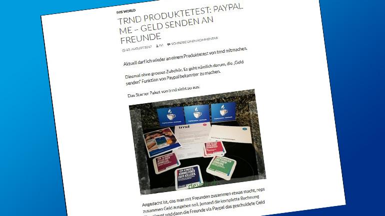 Wir berichten auch online über PayPal.