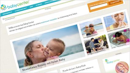 Das Portal babycenter.de liefert die richtigen Informationen zur richtigen Zeit.