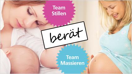 Welche Tipps hat das Team Stillen für das Team Massieren?