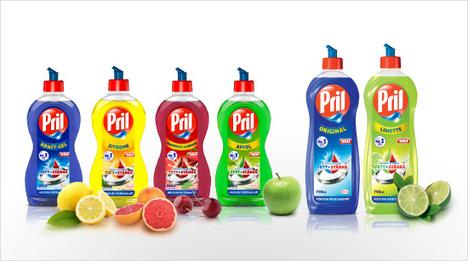 … das Pril Kraft-Gel ist das erste Spülmittel mit wirksamen Enzymen in Deutschland. Es ist ebenfalls in verschiedenen Düften sowie als Original erhältlich. In …
