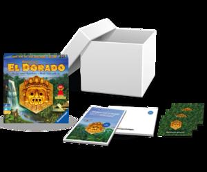 """Das Startpaket im trnd-Projekt mit """"Wettlauf nach El Dorado"""" von Ravensburger."""
