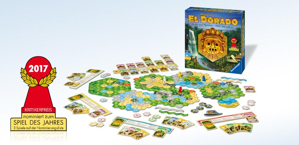 """Beim """"Wettlauf nach El Dorado"""" begeben sich bis zu vier Abenteurer auf die Reise zu dem Königreich im Dschungel Südamerikas."""