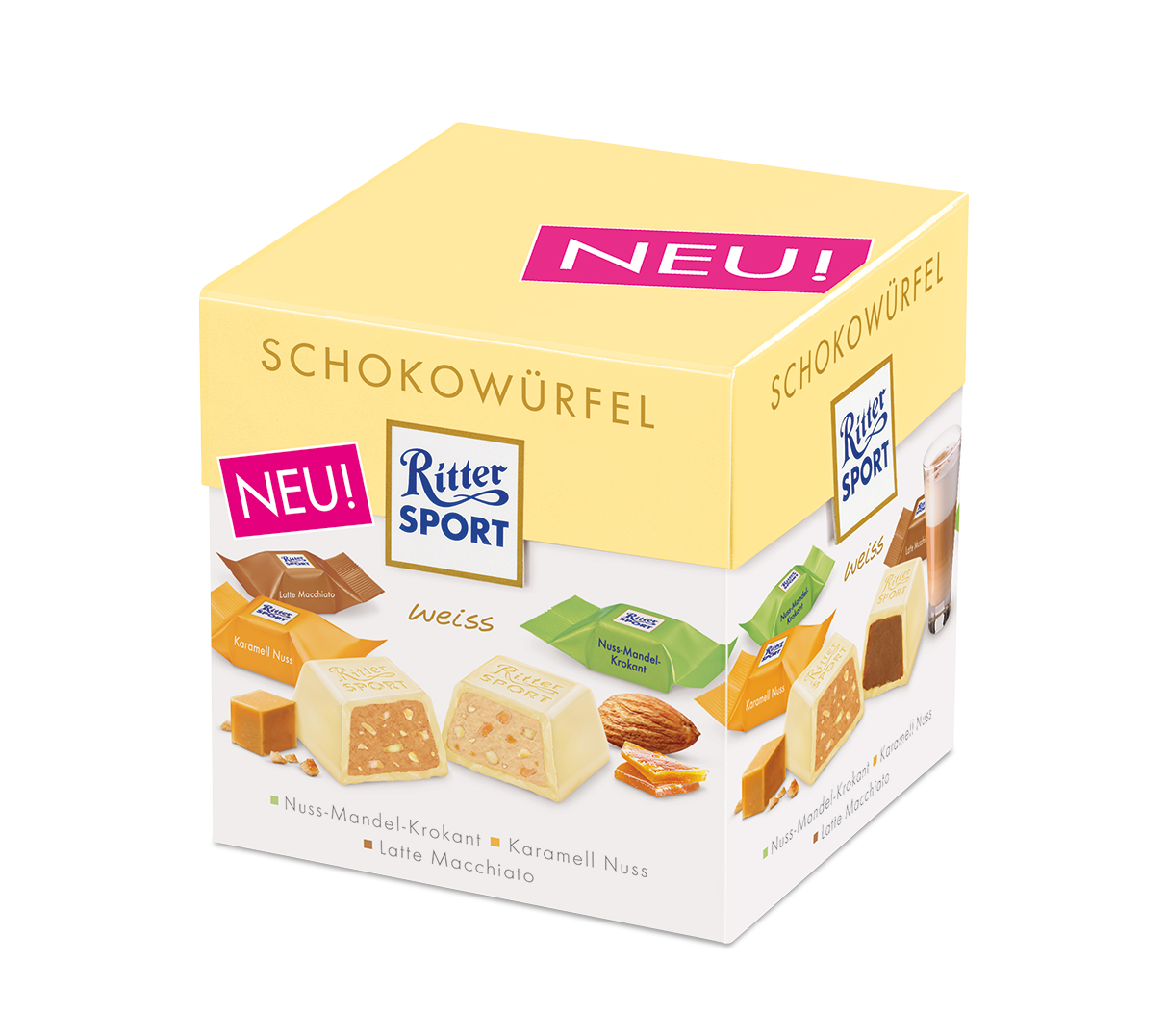 Ritter Sport Schokowürfel weiss