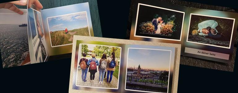 ... sodass wir die Erinnerungsstücke stolz im Freundes- und Familienkreis präsentieren können..