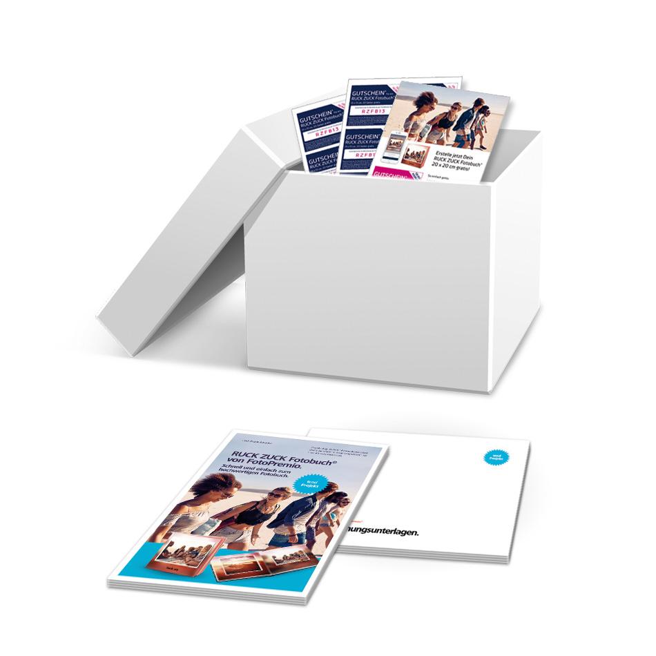 Das RUCK ZUCK Fotobuch® Startpaket.