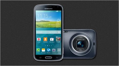 Fotografieren, bearbeiten, teilen – die Samsung GALAXY K zoom verbindet stylisches Smartphone und leistungsfähige Kompaktkamera.