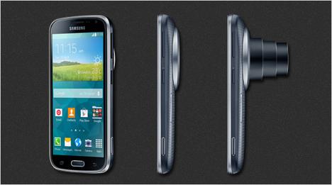 Trotz des ausfahrbaren Kameraobjektivs zeichnet sich die Samsung GALAXY K zoom durch ihre schlanke Silhouette aus.