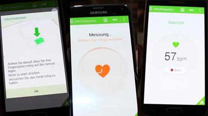 Der Pulsmesser des Galaxy S5
