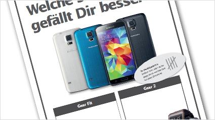 Stimmzettel Samsung Smartwatches