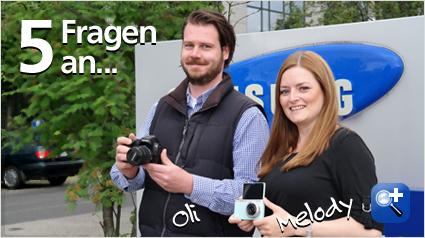 Unsere Ansprechpartner bei Samsung: Melody und Oli.