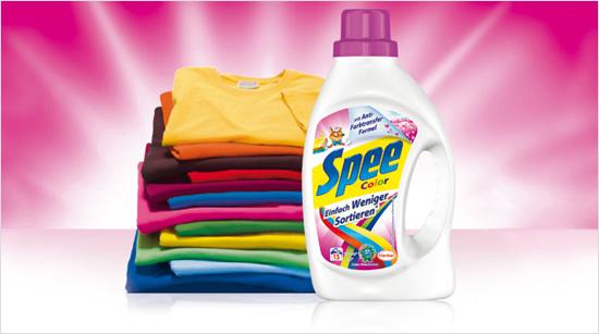 """Ab Juli 2014 heißt es beim Waschen """"Mischen possible"""" mit dem neuen Spee Color """"Einfach Weniger Sortieren"""". Denn damit …"""