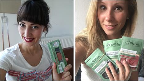 Die trnd-Partnerinnen packen bereits die L'Oréal Paris Startpakete aus, ...