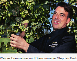 Weldes Braumeister und Biersommelier Stephan-Dück