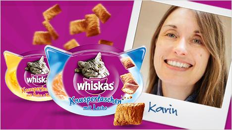 Whiskas Knuspertaschen: Unsere Ansprechpartnerin Karin.
