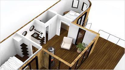 ... im Inneren bietet er mit seinen 25 m² viel Platz.