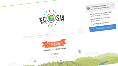 Screenshot Ecosia
