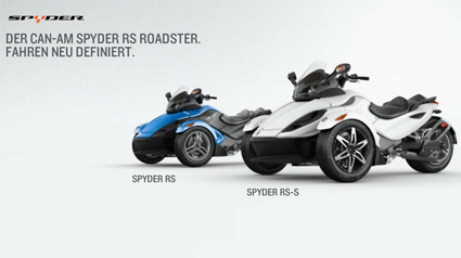 can am spyder quad mit drei r dern. Black Bedroom Furniture Sets. Home Design Ideas