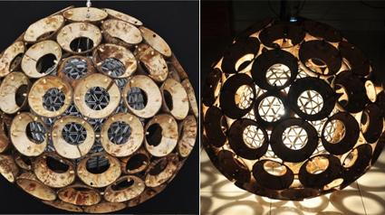 Core Lampe Aus Kokosnussschalen Und Tetrapaks