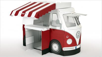 ein bus aus pappe f rs kinderzimmer. Black Bedroom Furniture Sets. Home Design Ideas